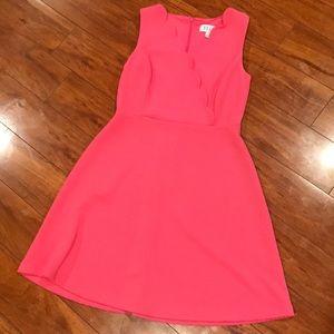 Textured Pink Scallop Dress